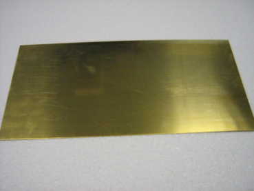 Messingblech MS63 halbhart  400x200x0,3 mm